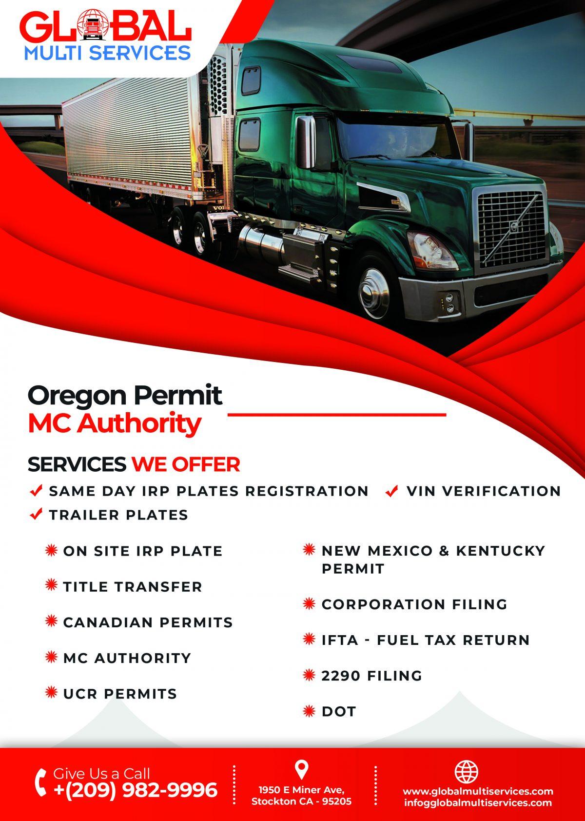 Oregon Trucking Permit