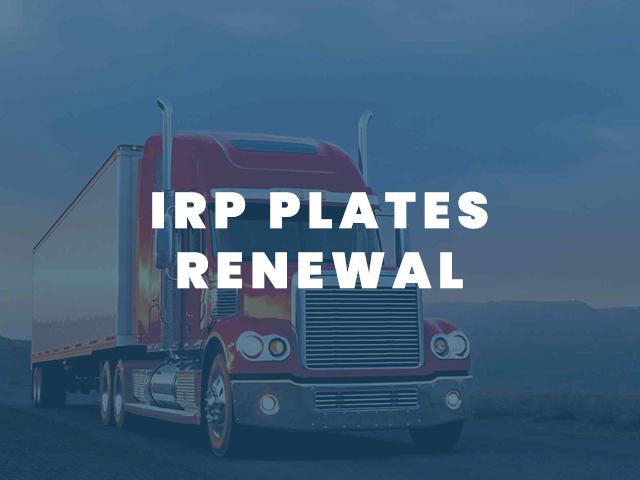 IRP PLATES RENEWAL