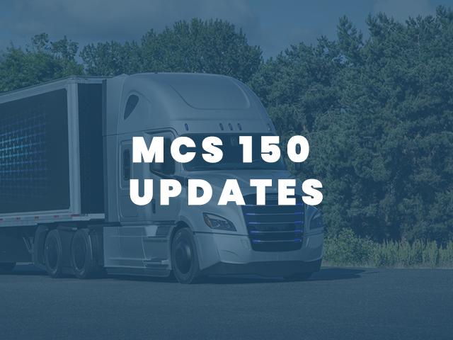 MCS 150 UPDATES