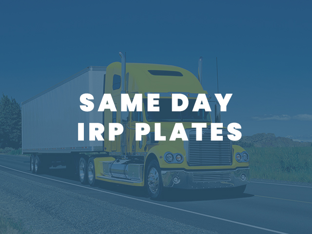 Same Day IRP Plates